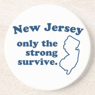 New Jersey Only The Strong Survive Sandstone Coaster