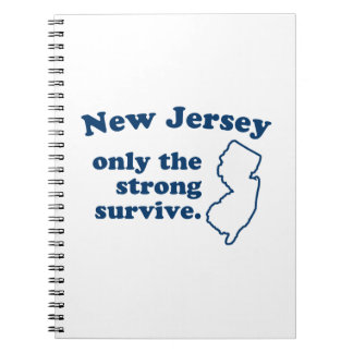 New Jersey Only The Strong Survive Spiral Notebook
