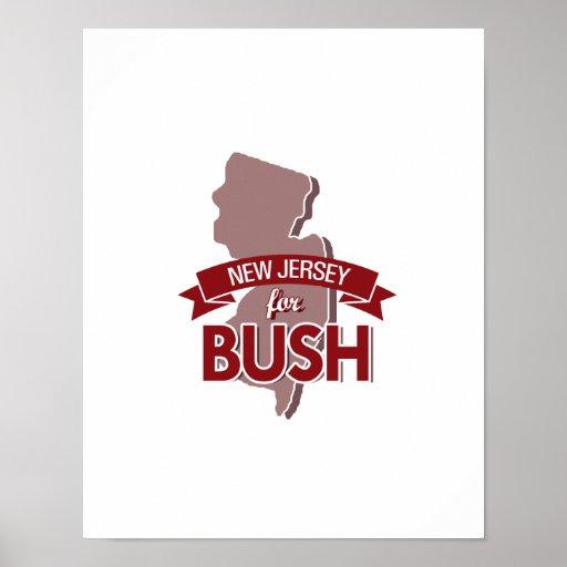 NEW JERSEY PARA BUSH - .PNG PÓSTER