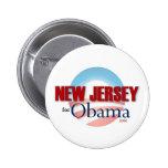 NEW JERSEY para Obama Pin