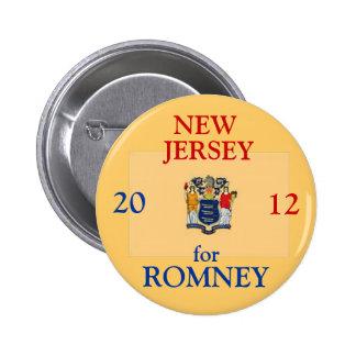 New Jersey para Romney 2012 Pin Redondo De 2 Pulgadas