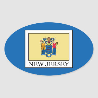 New Jersey Pegatina Ovalada