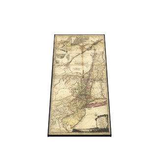 New Jersey Pennsylvania New York Map (1777) Canvas Print