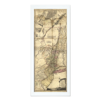 New Jersey Pennsylvania New York Map (1777) Card