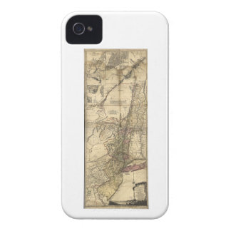 New Jersey Pennsylvania New York Map (1777) iPhone 4 Case-Mate Cases