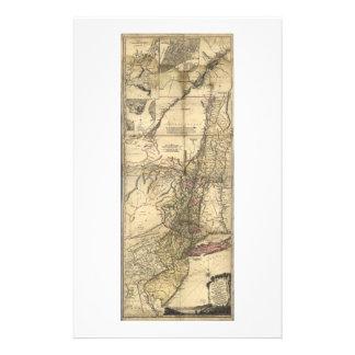 New Jersey Pennsylvania New York Map (1777) Stationery