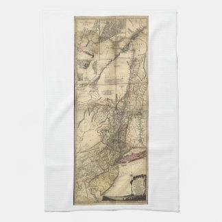 New Jersey Pennsylvania New York Map (1777) Towel