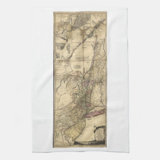 New Jersey Pennsylvania New York Map (1777) Towels