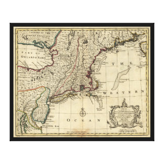 New Jersey Pennsylvania New York New England 1752 Canvas Print