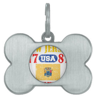 NEW JERSEY PERFECT TOGETHER DISTRESSED PRODUCTS PET TAG