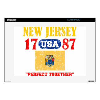 """NEW JERSEY PERFECT TOGETHER DISTRESSED PRODUCTS 15"""" LAPTOP SKINS"""