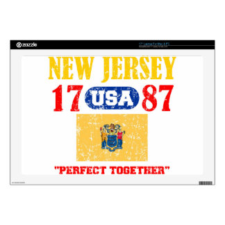 NEW JERSEY PERFECT TOGETHER DISTRESSED PRODUCTS DECAL FOR LAPTOP