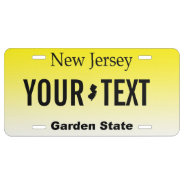 New Jersey Personalized Vanity License Plate at Zazzle