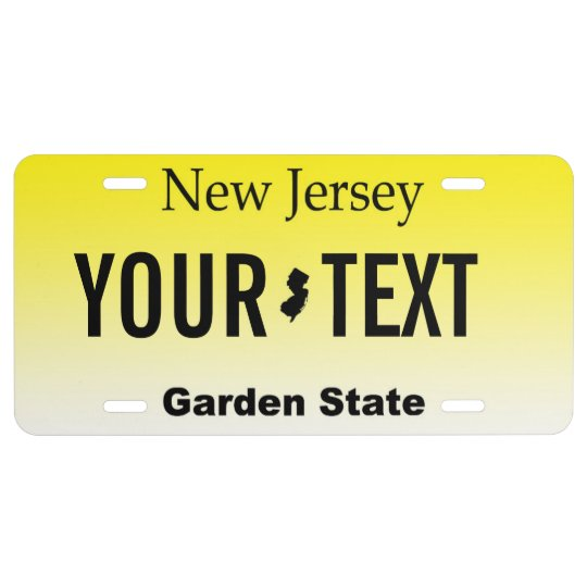 New Jersey License Plate Designs