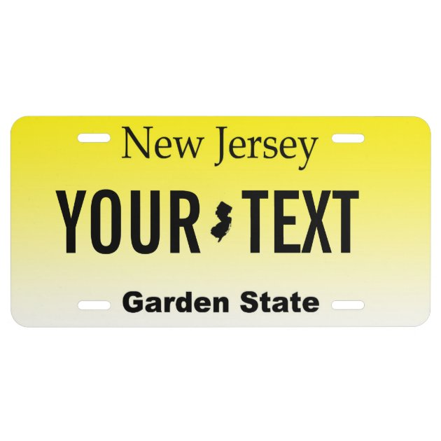 New Jersey Personalized Vanity License Plate Zazzle Com