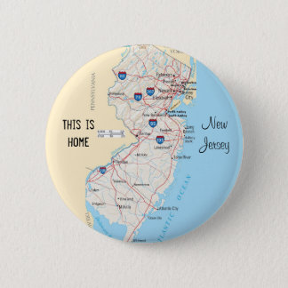 New Jersey Pinback Button