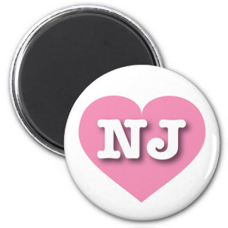 New Jersey pink heart - Big Love 2 Inch Round Magnet