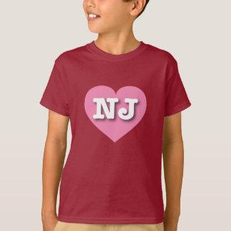 New Jersey Pink Heart - Big Love T-Shirt