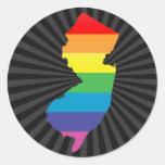 new jersey pride. round sticker