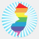 new jersey pride. round stickers