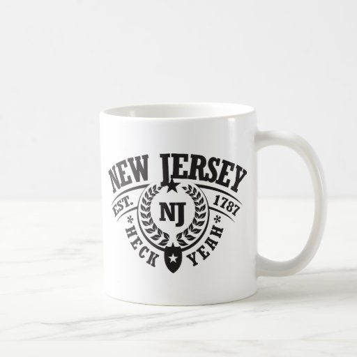 New Jersey, puñetas sí, Est. 1787 Taza Básica Blanca