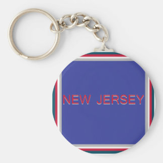 New Jersey Quad Blue and Red Keychain