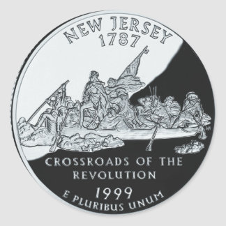 New Jersey Quarter Classic Round Sticker