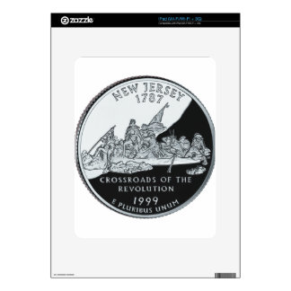 New Jersey Quarter Decal For iPad