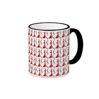 New Jersey Red and Black Ringer Mug