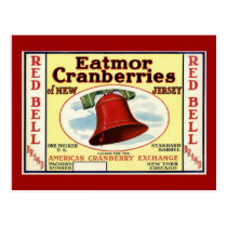 New Jersey Red Bell Cranberry Postcard