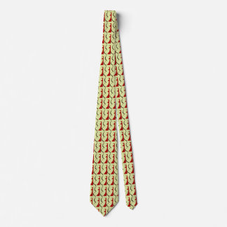 New Jersey Red Border Tie