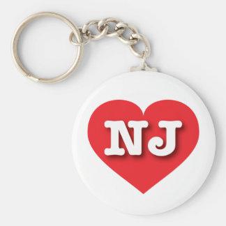 New Jersey Red Heart - Big Love Basic Round Button Keychain