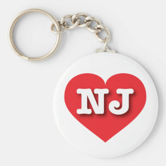 New Jersey Red Heart - Big Love Keychain