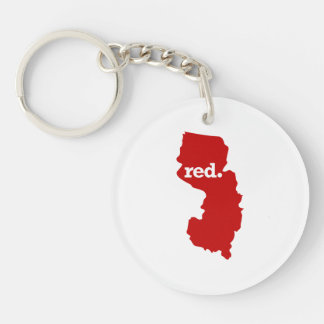NEW JERSEY RED STATE KEYCHAIN