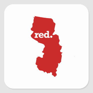 NEW JERSEY RED STATE SQUARE STICKER