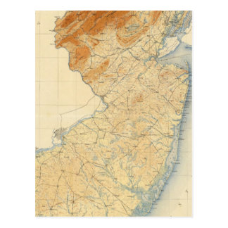 New Jersey Relief Map Postcard