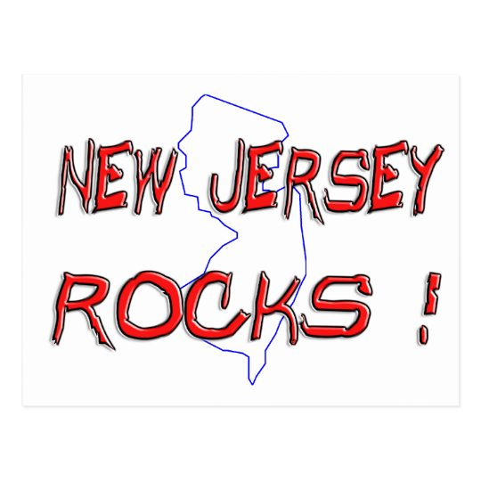 New Jersey ROCKS Postcard
