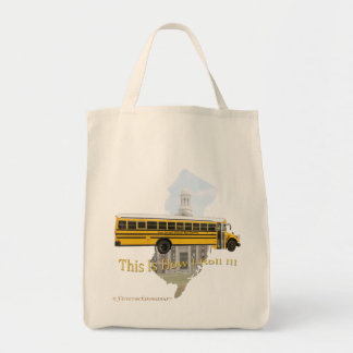 New Jersey School Bus Driver Tote Bag