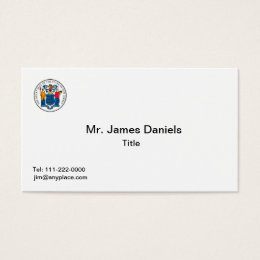State of new jersey business cards templates zazzle new jersey seal business card reheart Images