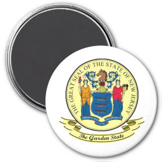 New Jersey Seal 3 Inch Round Magnet