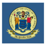 New Jersey Seal Poster