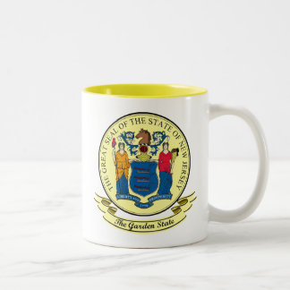New Jersey Seal Two-Tone Coffee Mug