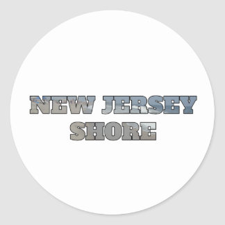 New Jersey Shore Classic Round Sticker
