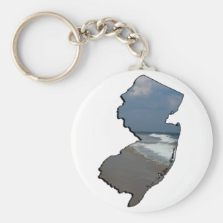 New Jersey Shore State Outline Keychain