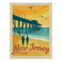 New Jersey Shoreline Postcard
