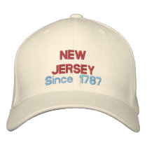 New Jersey Since 1787 Embroidered Baseball Hat