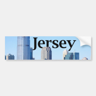 New Jersey Skyline with New Jersey in the Sky Bumper Stickers