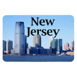 New Jersey Skyline with New Jersey in the Sky. Magnet