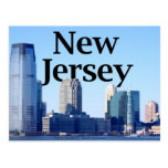 New Jersey Skyline with New Jersey in the Sky Postcard