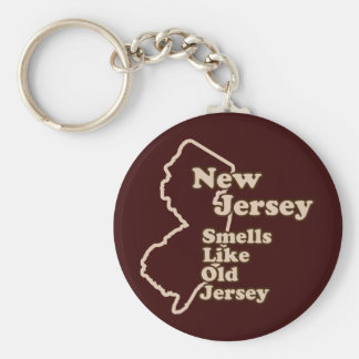 New Jersey Smells Like Old Jersey Keychain